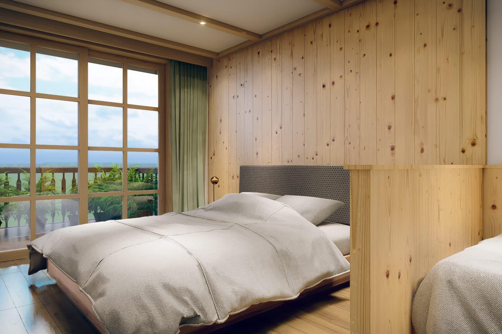 Room with a view – in ihrer Ferienwohnung mit Pool genießen sie morgens schon eine traumhafte Aussicht