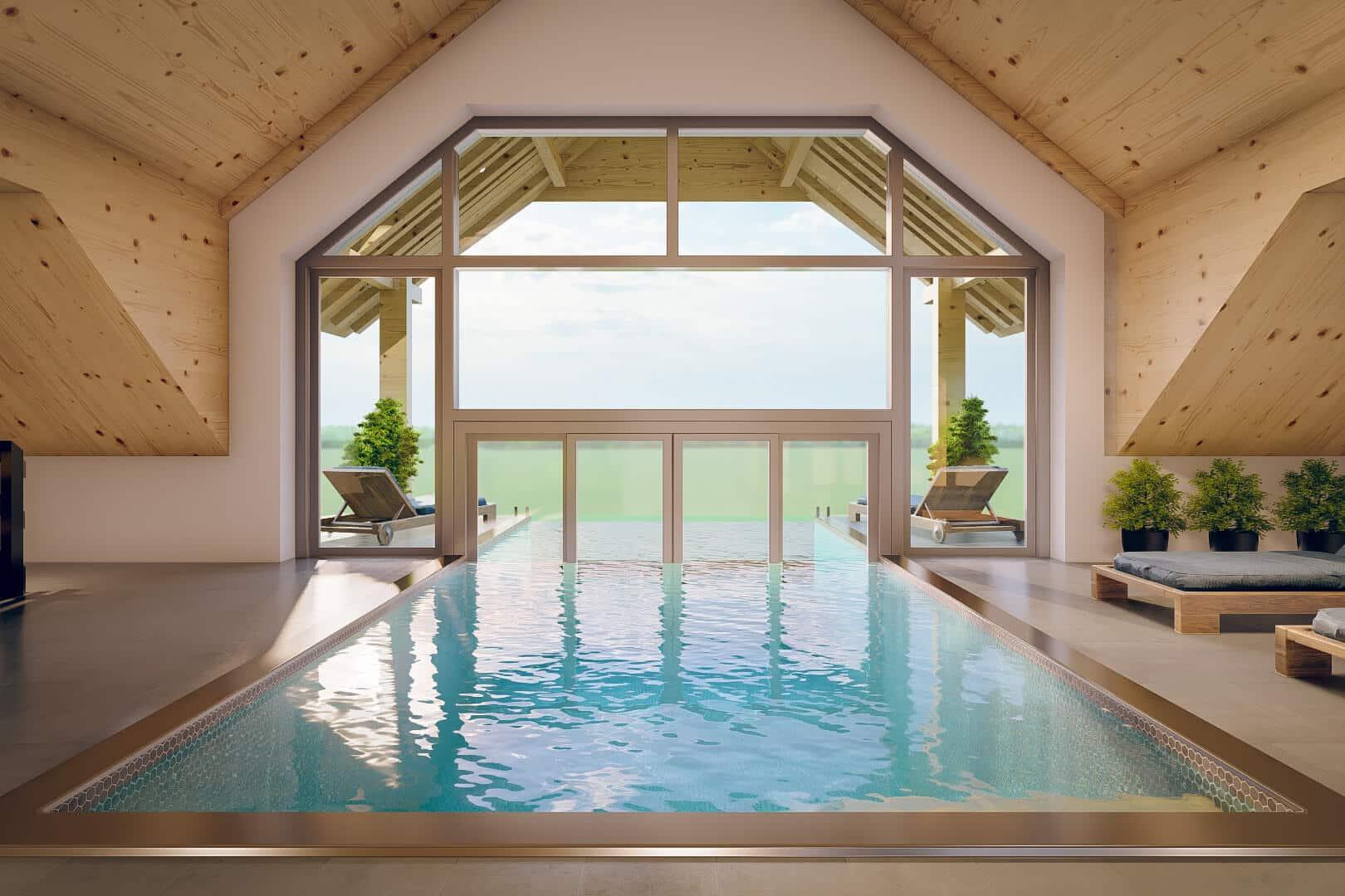 Ein Traum – zu diesem Rooftop Pool haben alle Gäste im Schwarzenbach Zugang