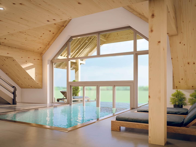 Wellness-Area mit Rooftop Pool im Schwarzenbach