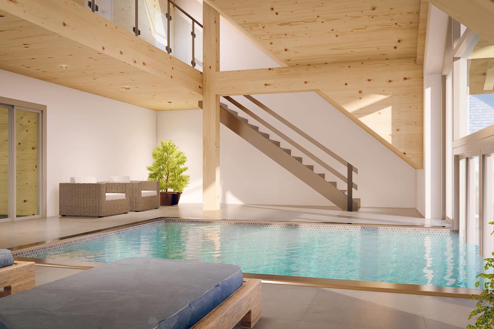 Erst im 30° Wasser entspannen und dann auf der Liege relaxen.
